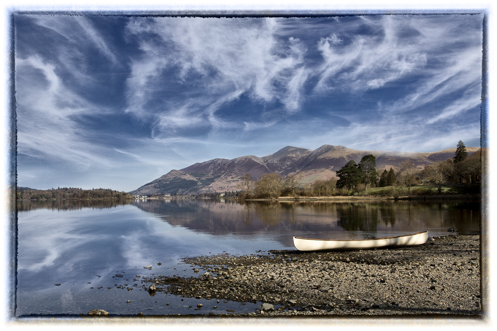 Derwent water with canoe