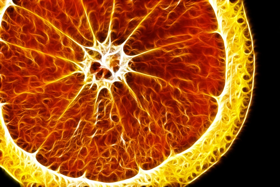 Abstract image of an orange